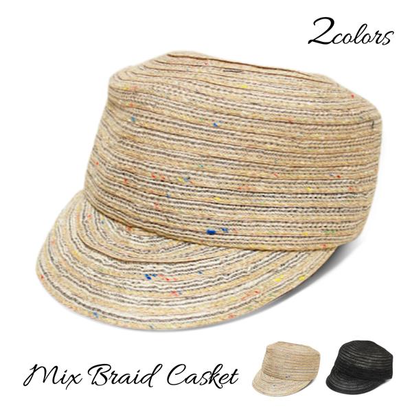 帽子 レディース 大きめサイズ春夏 日よけ UV対策 通気性 CT01 ランキングTOP10 [宅送] 送料無料 ブレードキャップ MIXブレードキャスケット 涼し気な素材感がとっても可愛い