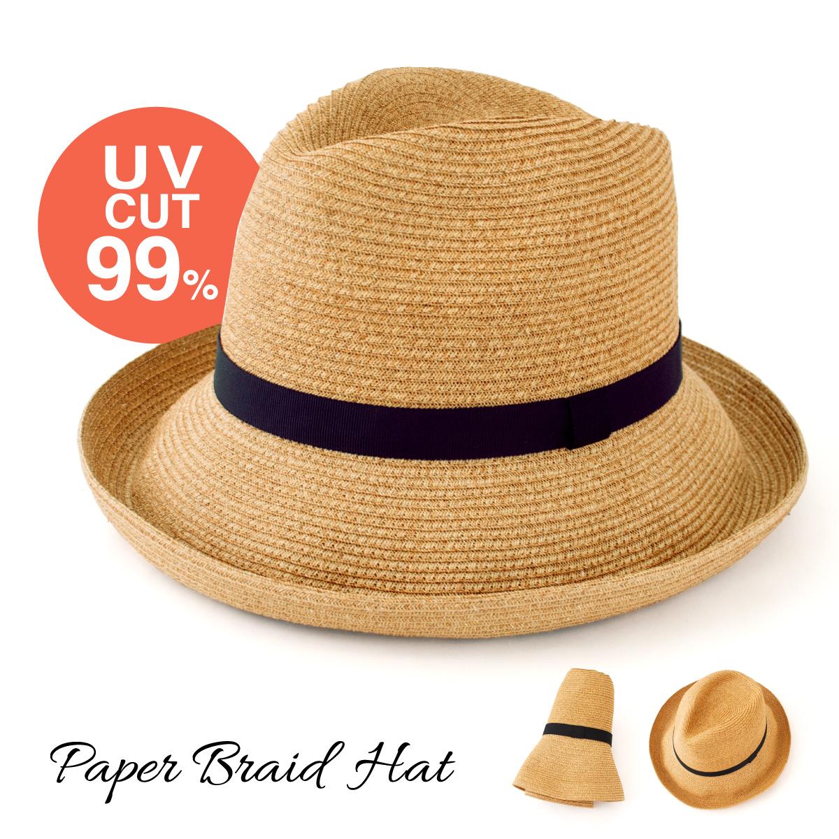 帽子 レディース メンズ ポケッタブル 上等 UVカット 中折れ つば広 紫外線遮蔽率99% シンプル 母の日 2021 紫外線対策 アジャスター 売れ筋 麦わら帽子 日本製 折りたたみOK 送料無料 遮並率99%以上 ギフト サイズ調整可能 折りたためるペーパーブレードハット