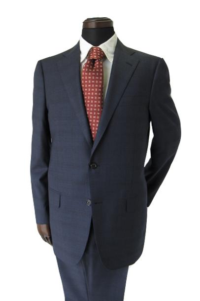エグゼクティブエレガンスに溢れた1着 ヒッキーフリーマン メンズスーツ ブルー グレンチェック 秋冬物 A7 AB4 AB5 AB6 A7 1M7