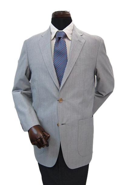 ヒッキーフリーマン メンズジャケット ライトグレー シルク混 S M L XL hsj1
