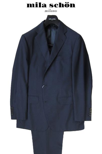 ミラショーン メンズスーツ ネイビー シャドーチェック ゼニア社素材 春夏物 50R(A7) 42G(BB3) 44G(BB4) 46G(BB5) 48G(BB6) 50G(BB7)