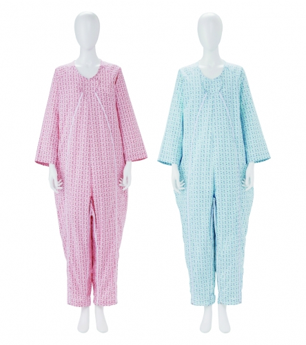直送商品 毎日のことだから 着脱しやすさを考えたパジャマ 2020モデル フドーねまき2型薄手 LL ローズピンク