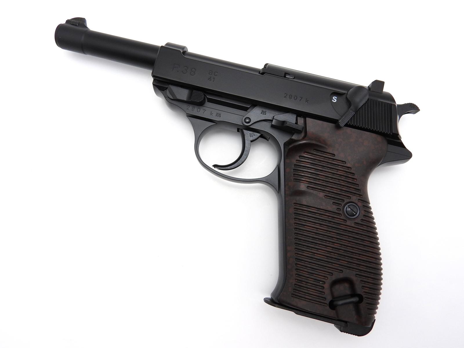 マルゼン ワルサー P38 ブラック ac41 ドイツ軍 1941年 ブローバック ガスガン 銃 18歳以上用
