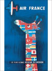 フランスサビニャックポストカード フランス直輸入 ポストカード エールフランス 選択 savignac オンライン限定商品