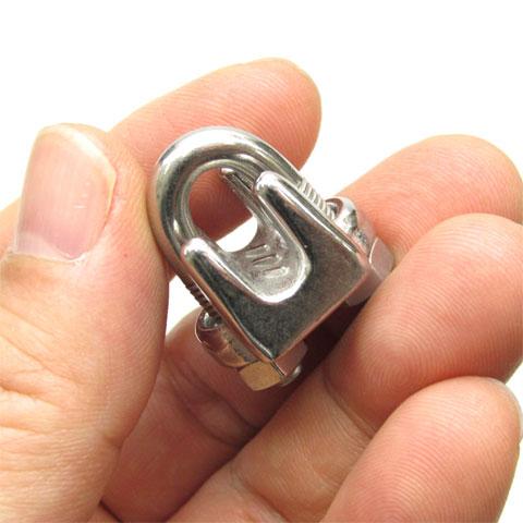 初売り ロープ金具 水本機械製作所 WC5 ステン 水本 WC-5 ロープ径 5mm用 ワイヤークリップ ステンレス 信託