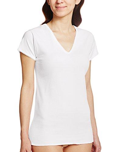 GUNZE 快適工房 メーカー再生品 婦人V型三分袖スリーマー 白 男女兼用 綿100% M
