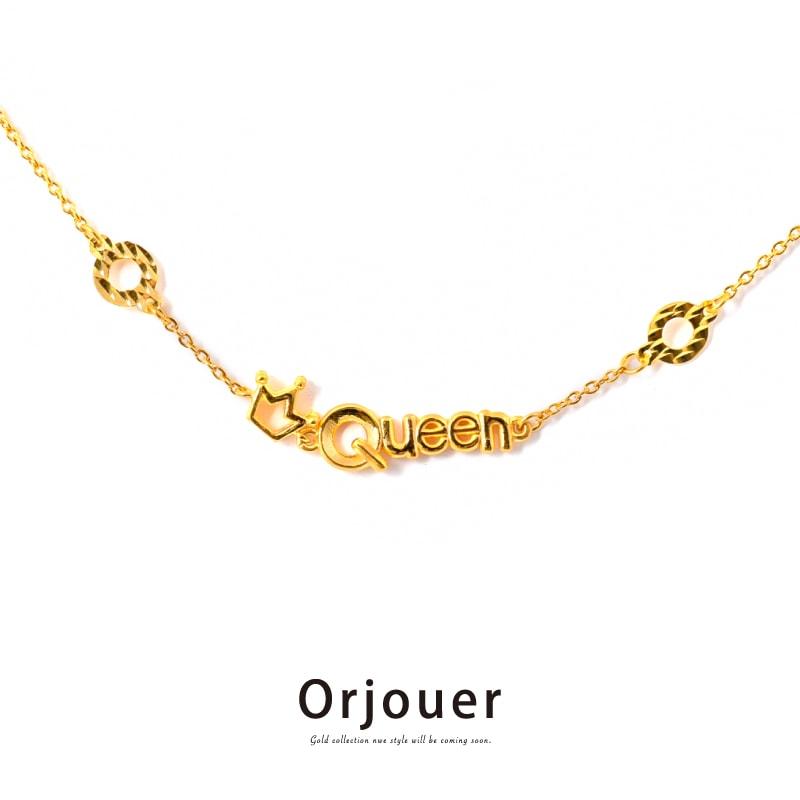 Orjouer - オルジュール 足金999 刻印 ゴールド クイーン・ブレスレット ブレスレット アンクレット K22相当 金22 ピュア ゴールド ハンドメイド ジュエリー G22