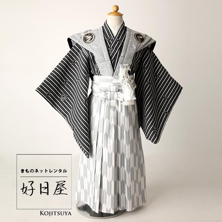 七五三 袴 男の子 着物 レンタル 5歳 袴レンタル フルセット 子供 羽織 子供 お宮参り 5-005