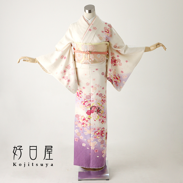 【レンタル】 七五三 卒業式 着物 結婚式 訪問着 身長148-163cm フルセット h-005 正絹 入学式