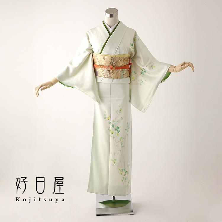 訪問着 レンタル フルセット 正絹 着物 結婚式 卒業式 入学式 七五三 身長140-154cm h-098