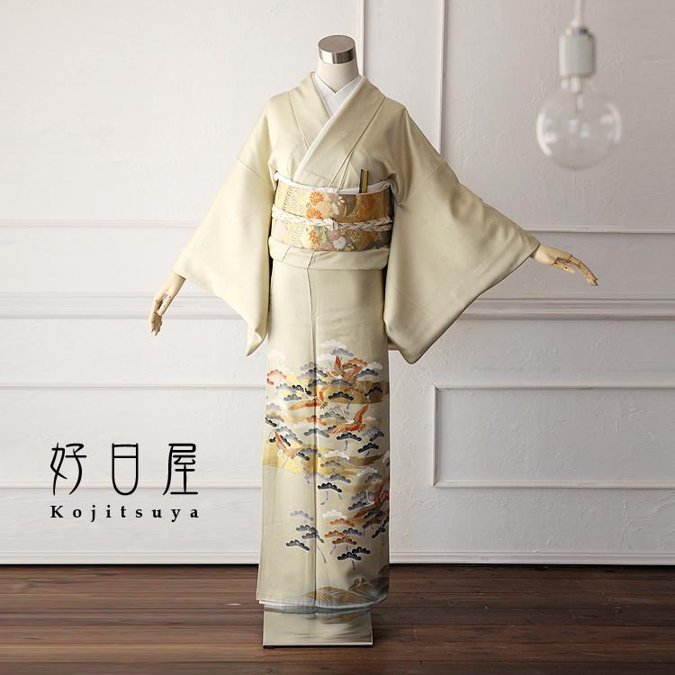 色留袖 レンタル フルセット 正絹 着物 【レンタル】 結婚式 身長146-161cm 一つ紋 it-011