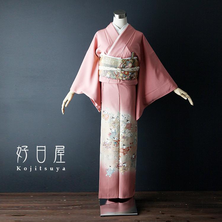 色留袖 レンタル フルセット 正絹 着物 結婚式 身長144-159cm 一つ紋 it-014