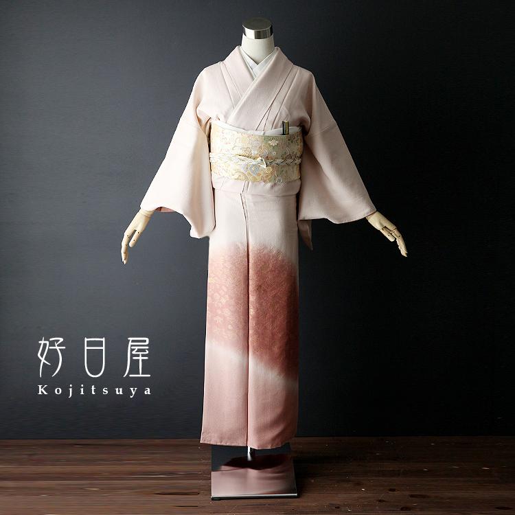 色留袖 レンタル フルセット 正絹 着物 結婚式 身長145-160cm 一つ紋 it-015