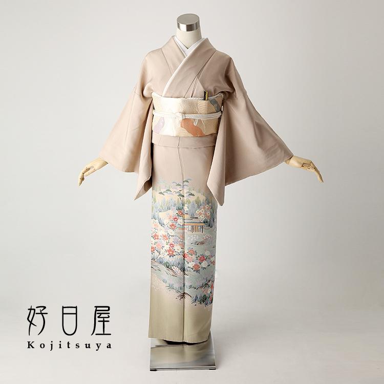 色留袖 レンタル フルセット 正絹 着物 結婚式 身長146-161cm 三つ紋 it-024