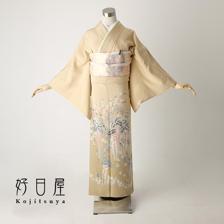 色留袖 レンタル フルセット 正絹 着物 結婚式 身長147-162cm 一つ紋 it-026