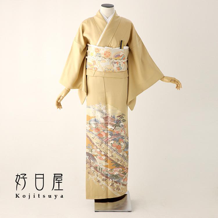 色留袖 レンタル フルセット 正絹 着物 結婚式 身長147-162cm 一つ紋 it-041