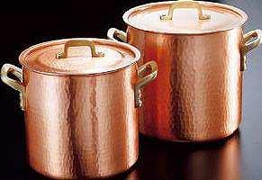 【送料無料!】【新光堂】新鎚起銅器深型両手鍋22cm手造りの輝き、伝統の逸品手造りならではの暖かさ