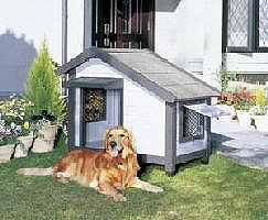【送料無料!】アイリスコテージ犬舎CGR-1080適合犬(目安):大型犬落ち着いた色調のコテージ犬舎窓を開け閉めすることで通気性を調節