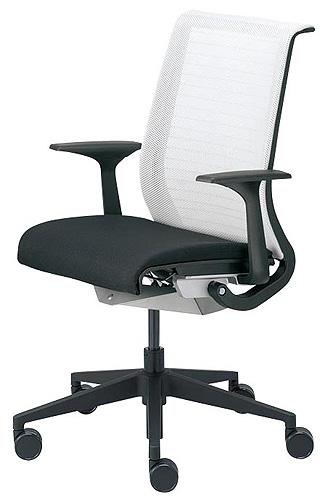 スチールケース シンクチェア 肘付き 固定アーム メッシュ Steelcase THINK 13201型 ブラックフレーム イス 椅子 オフィス家具 いす パソコンチェア ワークチェア デスクチェア リクライニング 腰痛 疲れにくい おしゃれ 送料無料