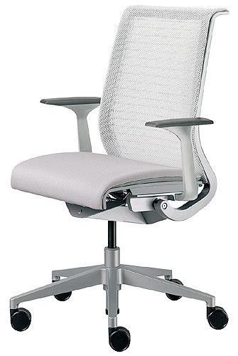 High Performance Pasoconcea THINK (sink) Chair 63201 Color 18 Colors +3 D  Knit 2 Color Back Seat Cloth Upholstery Fixed Arm Platinum Frame Steelcase  Office ...