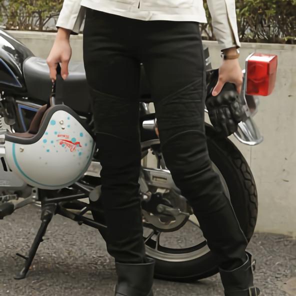 【ブラック 28】 バイク パンツ レディース uglyBROS MOTOPANTS TON-UP girl UB1009BK1 【送料無料】