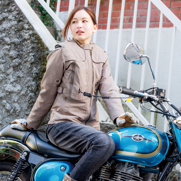 バイク用品 レディース ジャケット バイク ジャケット レディース Rosso×hit-air コラボプロテクトジャケット ROJH-002 【送料無料】