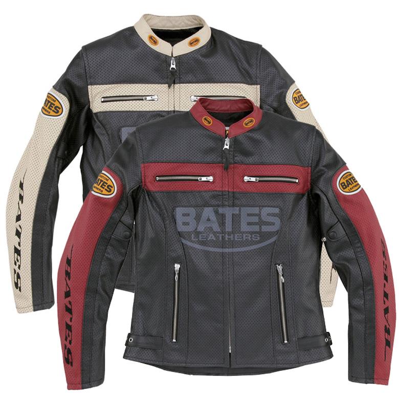 バイク ジャケット レディース BATES 2way Punched Hole Leather Jackets BAJ-L147 レザージャケット 春夏 ライダース バイク レディース ベイツ bates 本革 【送料無料】