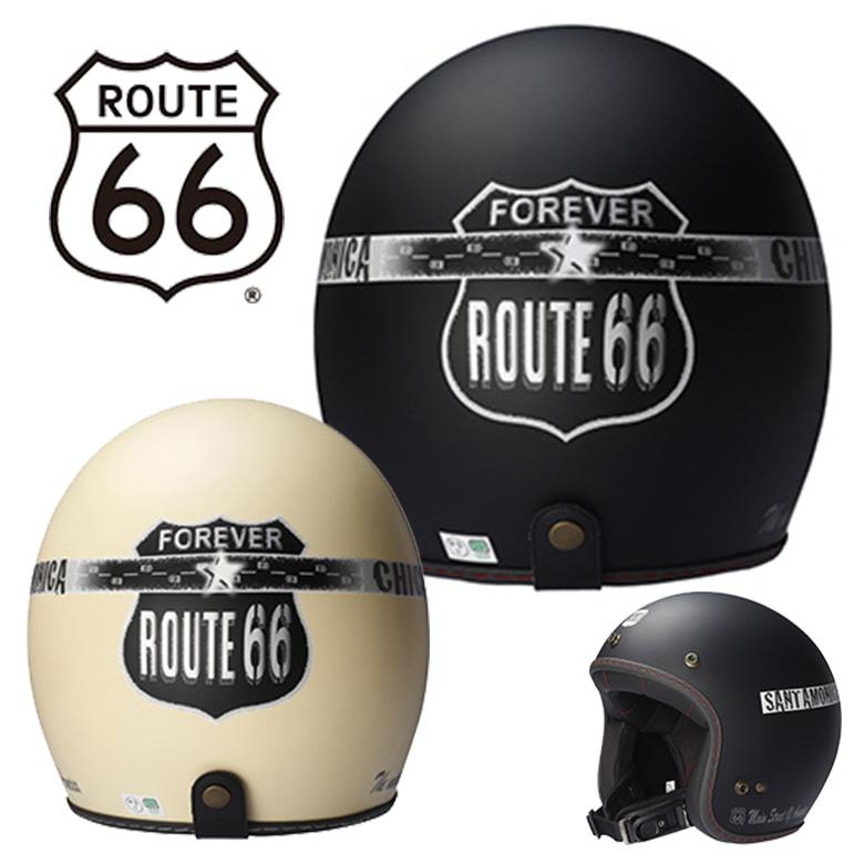 【マットアイボリー SM】 ヘルメット バイク ROUTE66 JET HELMET ジェットヘルメット R66H-1501 ジェットヘルメット バイク レディース