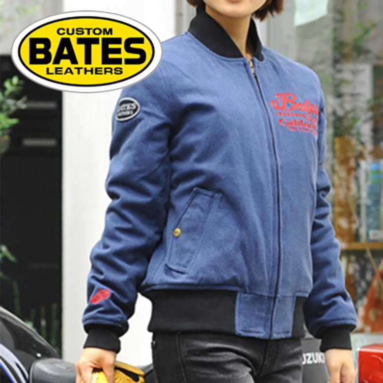 【アウトレット】バイク ジャケット レディース BATES 12oz Cotton Canvas Jackets 12オンス コットンキャンバスジャケット BAJ-L093C ライダースジャケット レディース バイク 秋冬用 ベイツ MA-1 ミリタリー 【送料無料】