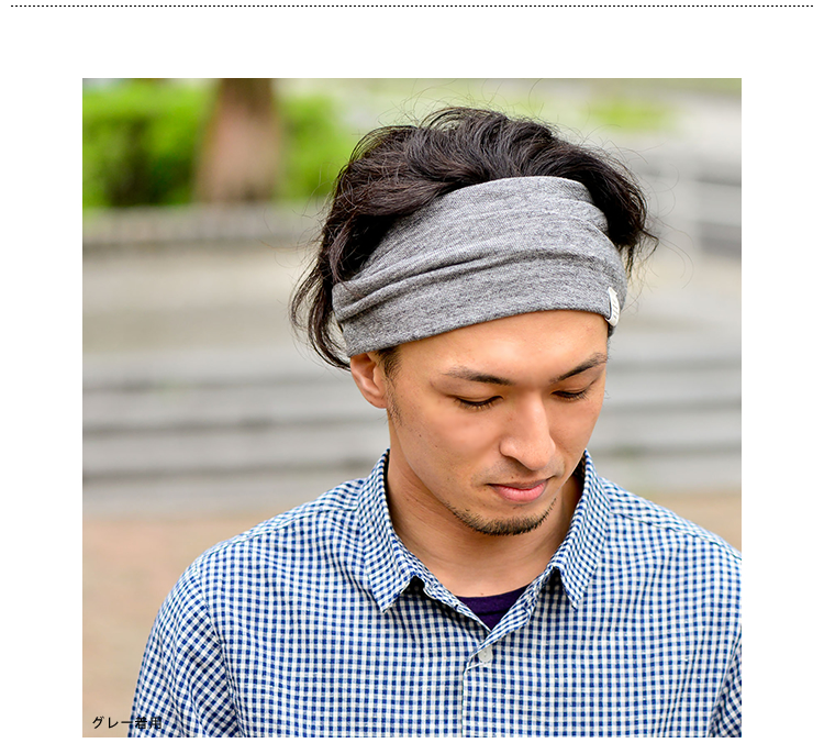 Dazzling A.C.C.C by MARSE (AC CC by Mars) hanging wind cotton knit hairband Beanie - Shoka-summer, things become the color of the skies. Enjoy the change in the faces of the two. Border hairband turban accessories men's women's spring summer Japan cotton