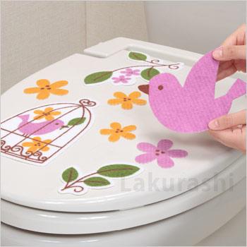 トイレ 消臭 シート おすすめ おしゃれ 節約 対策 尿 匂い トイレの消臭シート『鳥かご』KE-22(貼るだけ サンコー トイレタリー)