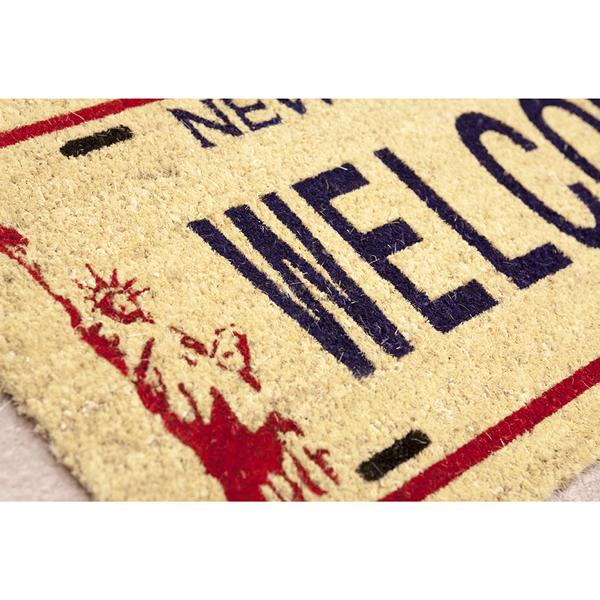 Incroyable American Door Mats Coconut Mat Welcome (NEW YORK) Coco Mat / Matt Colyer  Matt / Outdoor Entrance Mat / Garden Matt American Goods American Goods  Entrance