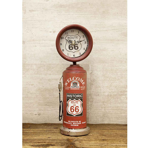 American gas pump type would lock / clock ROUTE66 (route 66 / RD / 085)  fashion watch vintage antique American goods American gadgets garage