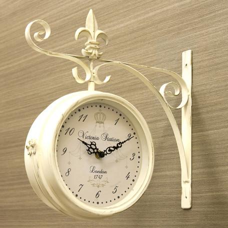 站 k 岩老板说墙上的时钟/挂钟时钟 L 大小双面手表时尚手表古董北欧小玩意-双面