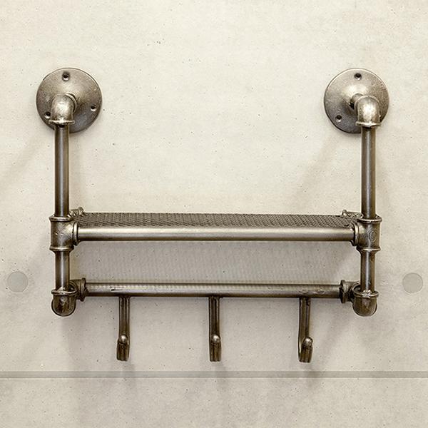 Lavieen Industrial Gas Metal Shelf Amp Hooks A Gas Pipe