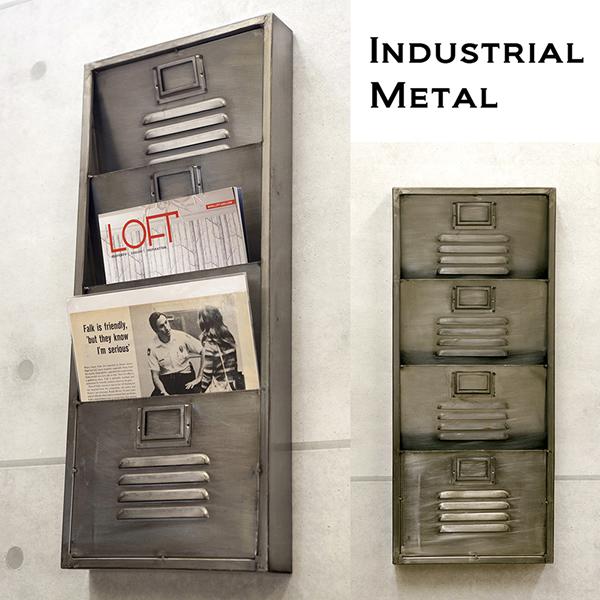 Lavieen Industrial Metal Wall Magazine Rack Wall Metal