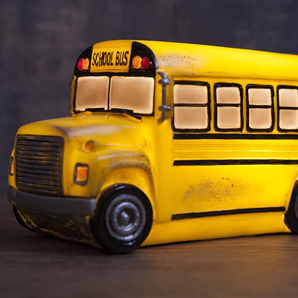 校车时尚灯美国灯雕塑车库老式的美国商品美国小玩意校车