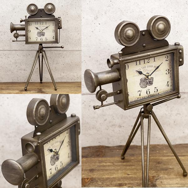 Retro Camera Clock Vintage K Lock Antique American Watch Fashion Objet Garage Goods Gadgets