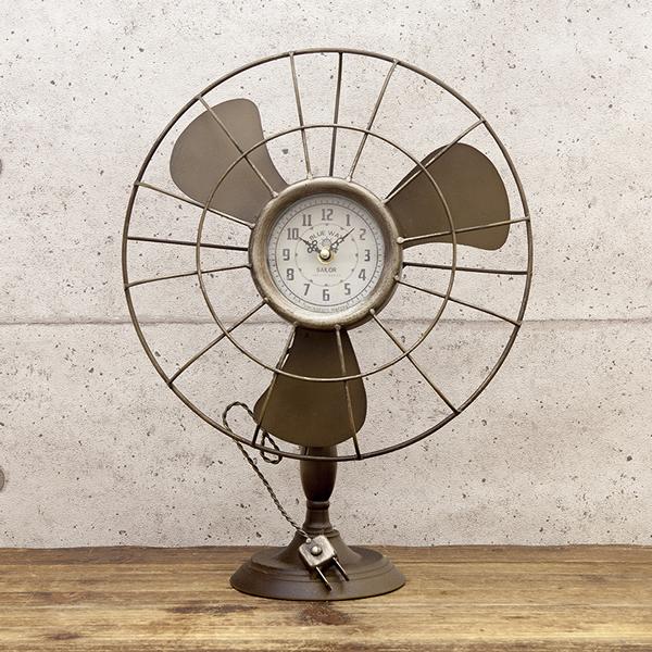 Fan Table Clock Vintage Clock Antique Clock / United States Clock / Fashion  Clock Art Object