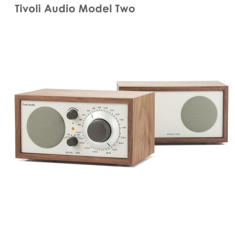 【国内正規品】Tivoli Audio チボリオーディオ Model Two (クラシックウォルナット/ベージュ) TVJPM2CLA <AM/FMラジオ・スピーカー>