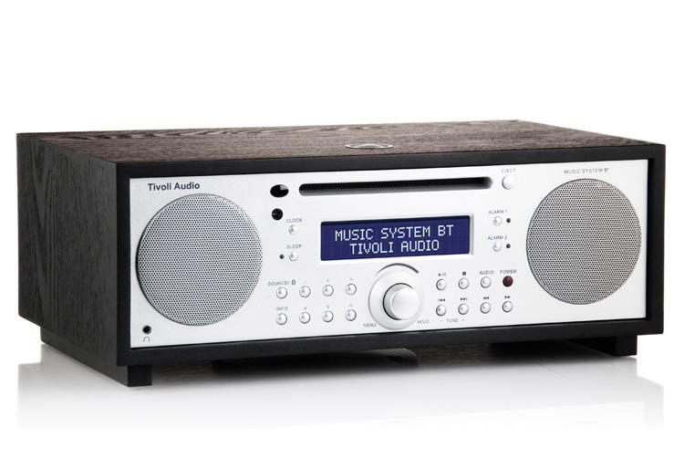 【国内正規品】Tivoli Audio チボリオーディオ Music System BT (ブラック/シルバー) MSYBT-1775-JP <Bluetooth/ブルートゥース/ワイヤレス CD/AM/FM/クロック ラジオ・ステレオ・スピーカー> 男前インテリア、もようがえ、おしゃれスピーカー スタンドスピーカー