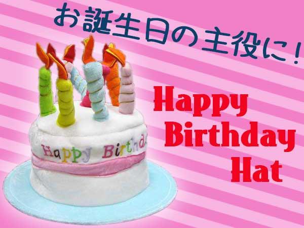 Birthday Hat HAPPY BIRTHDAY HAT Cake Candle American Goods General