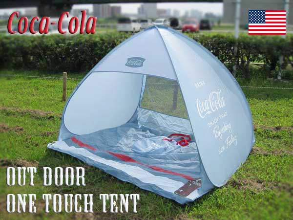 Coca Cola folding tent / one touch tent storage bag with mobile outdoor leisure picnic c& Miyama Park Park Festival American gadgets American General ... & lavieen | Rakuten Global Market: American Diner! Coca Cola folding ...