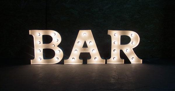 アメリカンダイナーランプ アメリカンサイン・ウィズライト(BAR)【3カラー展開 選択可】ネオンサイン 西海岸風 インテリア アメリカン雑貨