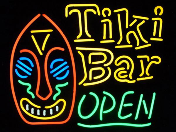 ネオンサイン(TiKi Bar OPEN ティキ バー オープン)ハワイ ネオン看板 ネオン管・照明 ガレージ ビンテージ アメリカ雑貨 ネオン 西海岸風 インテリア アメリカン雑貨