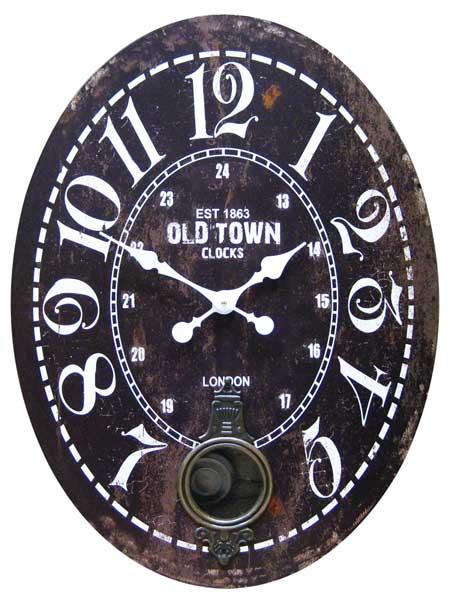 58 cm big size watch! Large pendulum clocks wall clocks / old town/BK  (HT/1J-061) clock antique vintage design wall clock watch American goods