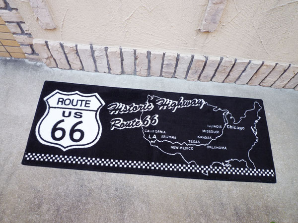 Beau Route 66 (ROUTE 66) Kitchen Mat Long Mat Door Mat Garage Mat Mat Wash  Non Slip
