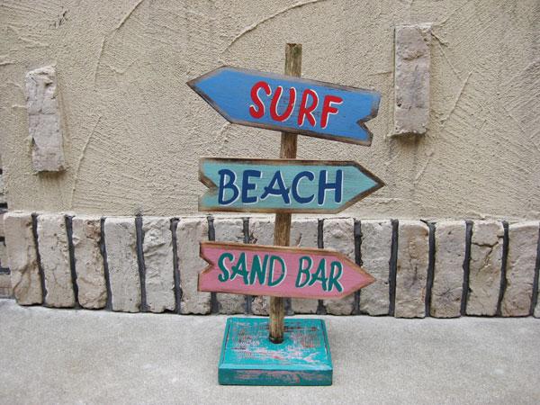 Lavieen Hawaiian Surf Stands Signature Wooden Signboard