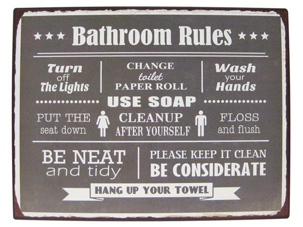 Bathroom Lights Keep Turning Off lavieen | rakuten global market: american tin sign bathroom