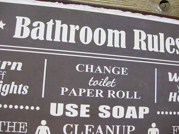 American Tin Sign Bathroom Ca Twa007 Yin Metal Signs Garage Vintage Gadgets Grocery